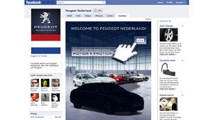 Peugeot Facebook takeover
