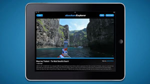ebookers Explorer iPad app