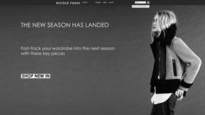 Nicole Fahri ecommerce site